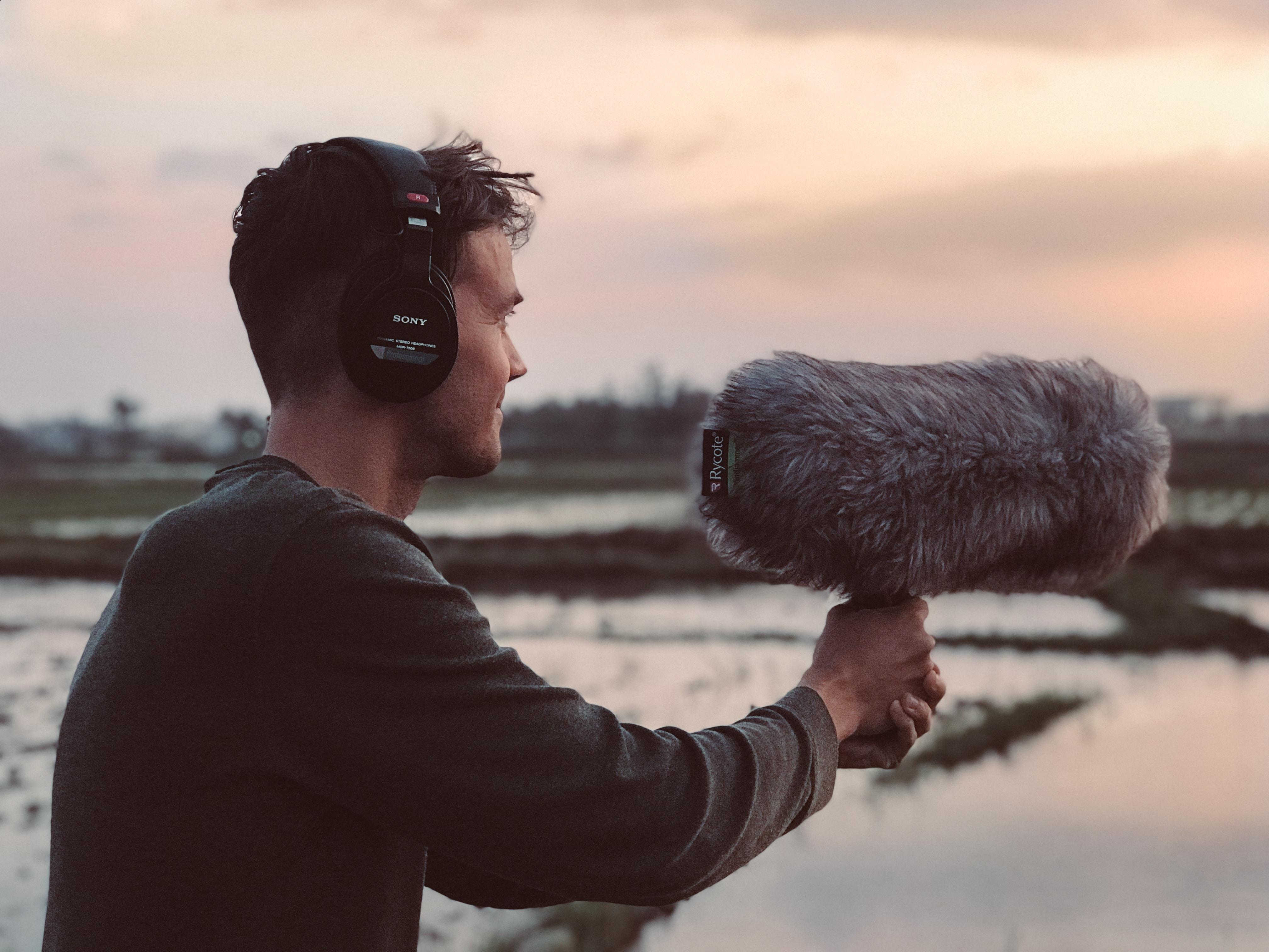 Acoustics: Consultancy - Man surveying environmental noise